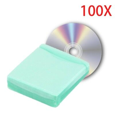 100pcs/set CD DVD DISC Double Side Useful Sleeves Wallet Cover Protect Case Bag