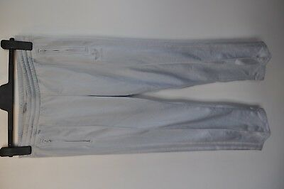 """Vintage Adidas silver track suit bottoms trousers size small 29"""" waist casual"""