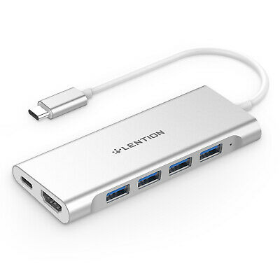 4-port USB-C 3.0 HUB Adapter Type C to HDMI PD Charging for MacBook Pro 13/15