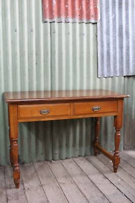 An Edwardian Two Drawer Hall Table C.1900's