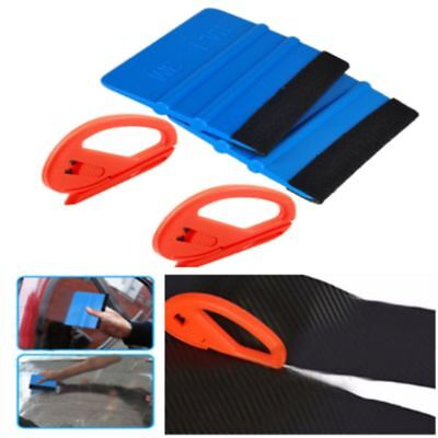 Auto Scraper Car Wrapping Tools Safety Sticker Cutter Felt Edge Squeegee