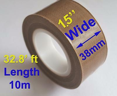 High Temperature PTFE Coated Fiberglass Adhesive Tape with Liner 600mmx10M Tube