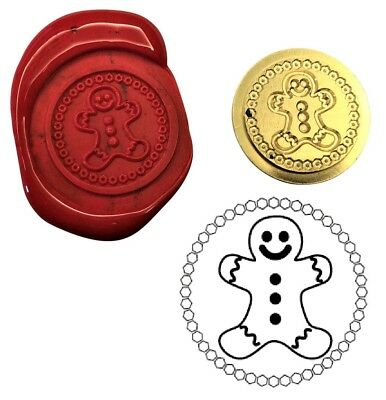 Gingerbread Man Wax Stamp Seal Starter  Kit or Buy Coin Only.  XWS039B/XWSC368