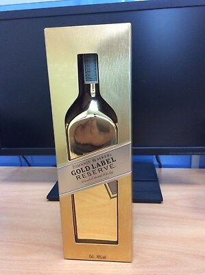 Johnnie Walker Empty Gold Label Reserve Bottle Scotch Whiskey Limited Rare 75cl