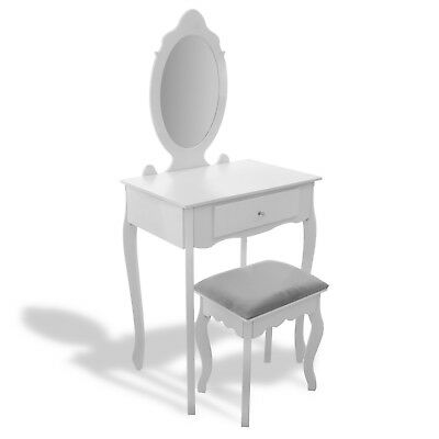 Dressing table with make'up mirror and a stool 3 types to choose