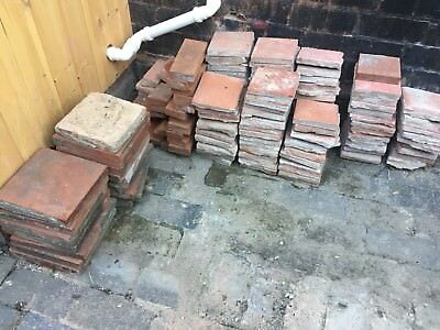 Reclaimed quarry tiles, 4x4 and 9x9