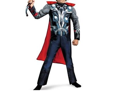 Thor Classic Muscle Party Cosplay Costume Halloween The Avengers Boys Jumpsuit