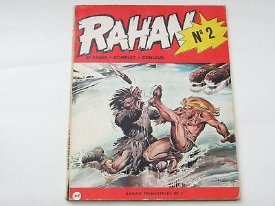 RAHAN N°2 BE 1e Edition Originale Avril 1972 ANDRE CHERET Editions Vaillant