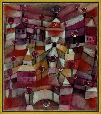 Framed Paul Klee Rose Garden Giclee Canvas Print Paintings Poster Reproduction