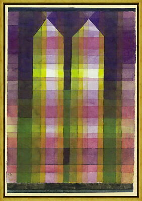 Framed Paul Klee Twin Tower Giclee Canvas Print Paintings Poster Reproduction