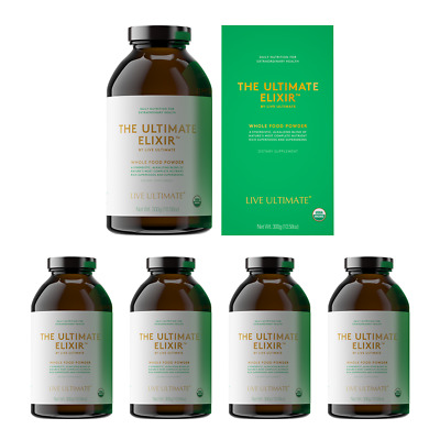 LIVE ULTIMATE - THE ULTIMATE ELIXIR 300g - Pack of 5 - Organic Multivitamin