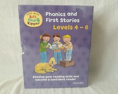 OXFORD PHONICS AND FIRST STORIES Biff, Chip AND KIPPER LEVEL 4-6 NEW IN BOX