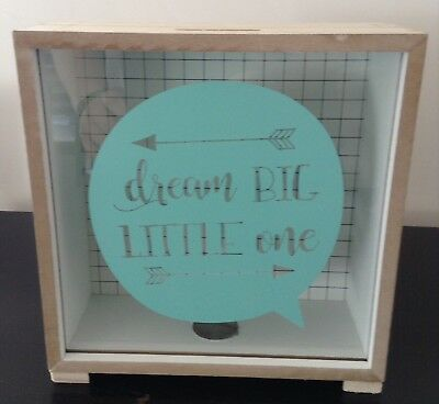 %% Sparbüchse Dream Big, Little one Spardose Holz Glas