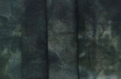 """""""Cat Hollow"""" - hand dyed rug hooking wool fabric - (1) Fat Quarter 100% Wool"""