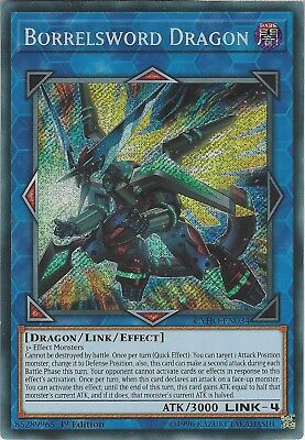 Yu-Gi-Oh: BORRELSWORD DRAGON - CYHO-EN034 - Secret Rare Card - 1st Edition