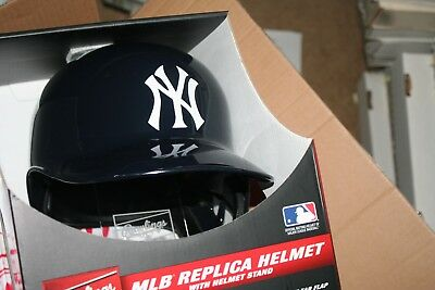 NY New York Yankees MLB FULL SIZE Batting Helmet with FREE Display Stand