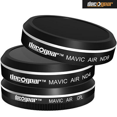 Filters for Mavic Air Quadcopter Drone (CPL+ND4+ND8) Deco Gear