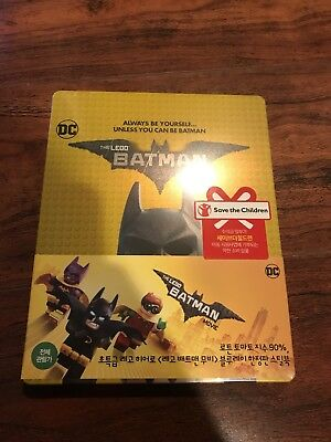The LEGO Batman Movie 2D + 3D Blu-ray Combo Steelbook Edition Korea Import