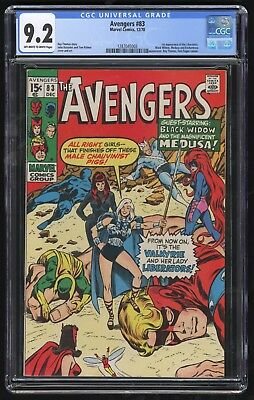 Avengers #83 (Marvel - 12/1970) CGC 9.2 NM- OW/W pages - 1st app LIBERATORS