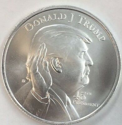 President Donald Trump 1 oz .999 silver coin swearing in at the Whitehouse 45th