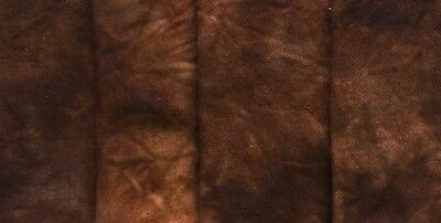 """Stencil Brown"" - hand dyed rug hooking wool - (1) Fat Quarter 100% Wool"