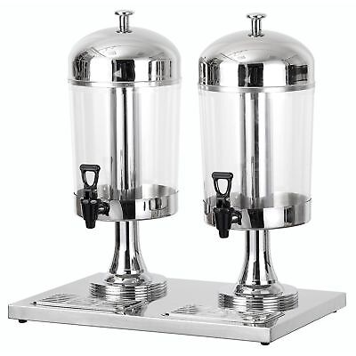 Chef's Supreme Stainless Steel Juice Dispenser - Dual Bowl