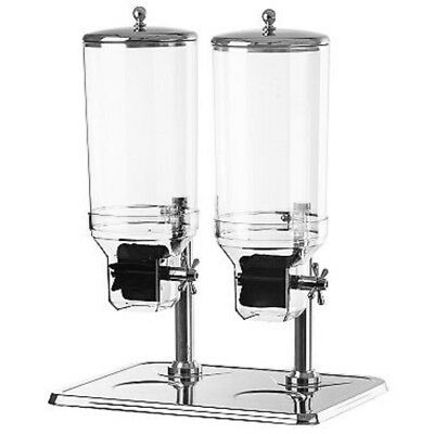 Chef's Supreme Stainless Steel Cereal Dispenser - Dual Bowl