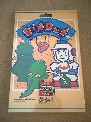 Dig Dug For Commodore 64/128, NEW FACTORY SEALED, Nameco Thunder Mountian