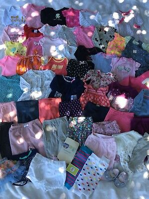 Baby Girl Clothes Lot NB 0-3 Months 3-6 Months 57 Pieces