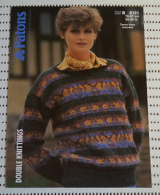 Knitting Pattern Ladies Fair Isle Jumper Snowflake Sweater Christmas
