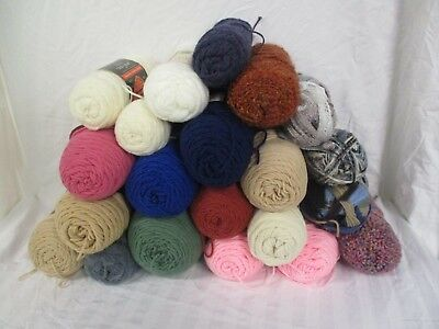 Mixed Yarn LOT Assorted Colors & Brands Acrylics (AD)