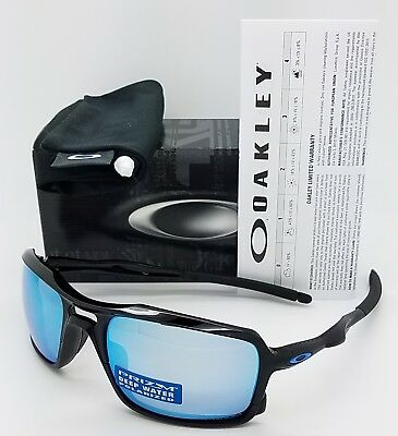5b560d5f7e NEW Oakley Triggerman sunglasses Polished Black Prizm Deep H2O Polarized  9266-11