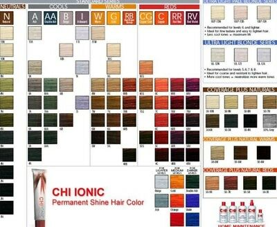 (Choose Your Color) CHI Ionic Permanent Shine Hair Color Ammonia Free 3oz