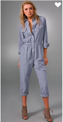 ed9a37b088ca CURRENT   ELLIOTT The Rosie Army Jumpsuit Coveralls Boiler Suit ...