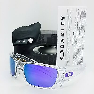 60d18048302 NEW Oakley Fuel Cell sunglasses Polished Clear Violet Iridium 9096-04  AUTHENTIC