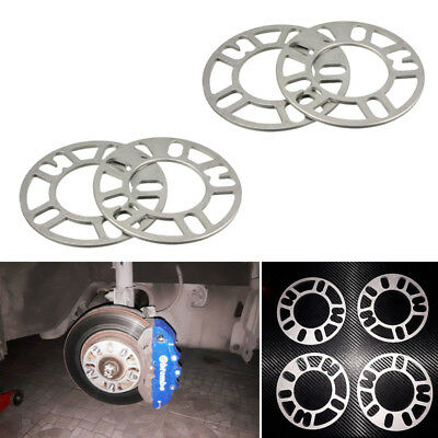 4PCS 5mm Alloy Aluminum Wheel Spacers Adaptor Shims Plate 4/5 Stud For Car Parts