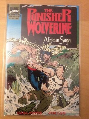 Punisher Wolverine: African Saga Tpb, Nm (9.4 - 9.6), 1St Print, Unread 1989