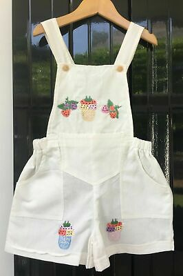 NEW Girls Toddler Childrens Kids 100% Cotton Summer Short Dungarees 1yrs to 5yrs