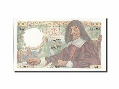 [#209746] Banknote, France, 100 Francs, 100 F 1942-1944 ''Descartes'', 1942