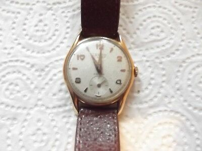 Lanco vintage watch 17 rubis Ancre Swiss made gold plated- working