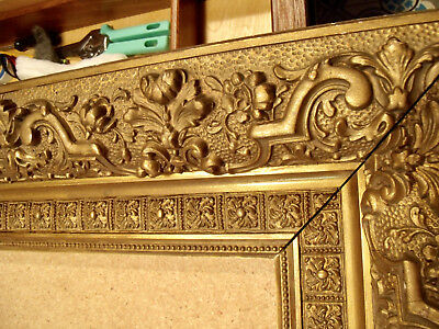 Antique Gilt Wood Hudson River School Museum Picture Frame 34 By 30 Inches