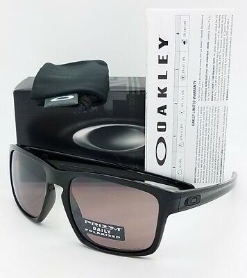 3ce17b244b NEW Oakley Sliver sunglasses Black Prizm Daily Polarized Grey AUTHENTIC 9262 -07