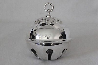 Reed and Barton 1998 Limited Edition Silver Plated  Holly Bell NIB