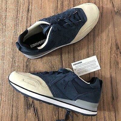 check out bc87a 75aa2 A683 Converse Malden Racer Navy Blue Cream Natural Trainer 144572C Size 9  NEW