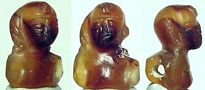 Egypt PTOLEMAIC Bust of Harpokrates CARNELIAN Agate 305 - 30 BC Provenance NR!