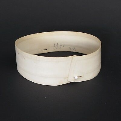 Antique or vintage unmarked starched detachable stand collar, 15