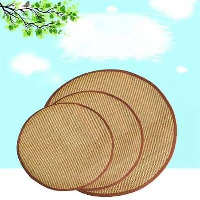 Pet Dog Cooling Bamboo Mat Round Pad Cat Puppy Cool Bed Summer Nest Heat Relief