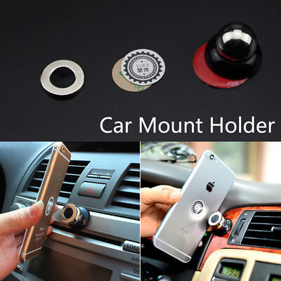 360° Magnetic Cell Mobile Phone Car Dash Holder Magic Stand Mount For Most Car