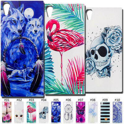 Painted Silicone Back Soft Fashion Skin TPU Cute Case Cover For Sony Xperia XA1