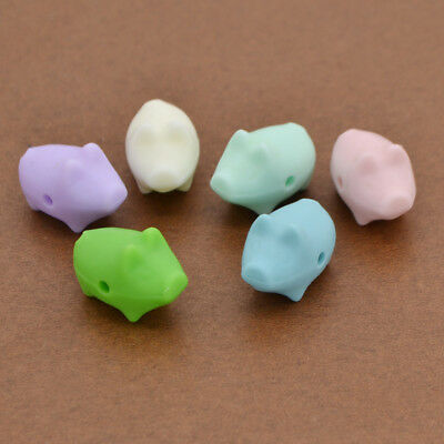 Cute Silicone Teething Beads Little Pig Shaped Handmade Kids Toys Accessories